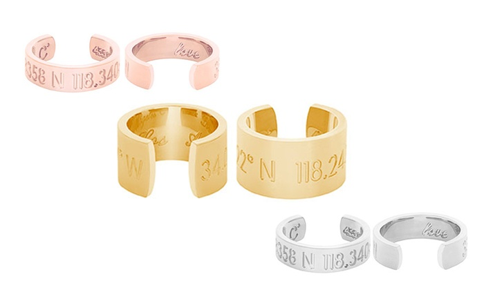 Coordinates Collection: Personalized Horizon or Legend Ring from Coordinates Collection (Up to 57% Off)