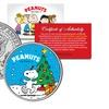 2-Coin Set of Snoopy Christmas Kennedy Half Dollars