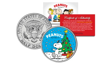 2-Coin Set of Snoopy Christmas Kennedy Half Dollars