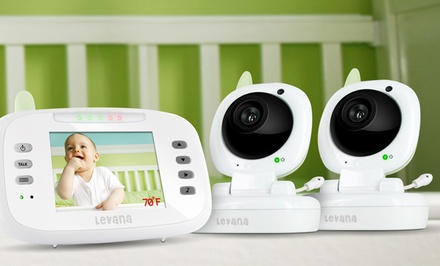 Levana Safe n' See Advanced Video Baby-Monitor Set with 2 Cameras (LV-TW502-2C). Free Returns.