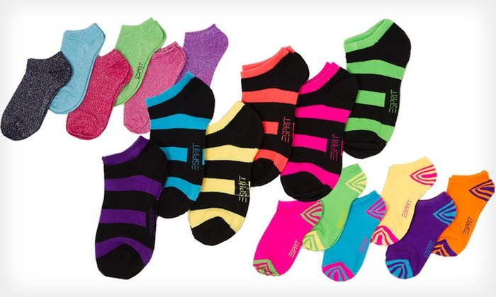 Esprit Girls' No-Show Socks: $10 for 12 Pairs of Esprit Girls' No-Show Socks ($24 List Price). Four Options Available.