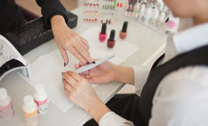 image for Gel or Acrylic Manicure, or Gel Mani-Pedi at White Tips Professional Nails (Up to 58% Off)