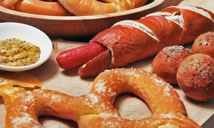WunderBrat Sausages and Pretzels - Bellevue: Two Sausages in Buns or $8 for $16 Worth of Food at WunderBrat Sausages and Pretzels
