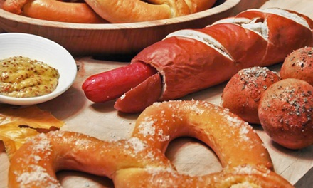 Two Sausages in Buns or $7 for $16 Worth of Food at WunderBrat Sausages and Pretzels