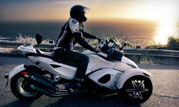Spyder-Rentals.com - Alameda: Eight-Hour, Three-Day, or Seven-Day Can-Am Spyder Rental from Spyder-Rentals.com in Alameda (Up to 52% Off)