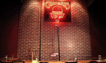 General Admission for Two or Preferred Admission for Two and Two Drinks at Crackers Comedy Club (Up to 52% Off)
