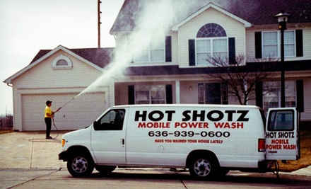 $150 for Pressure Washing and Sealing of One Two-Car Driveway from Hot Shotz Mobile Power Wash ($385 Value)