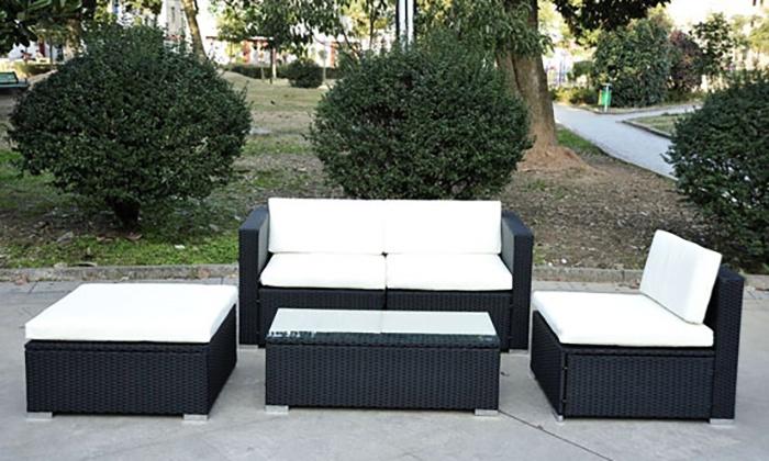 Five Pc Rattan Furniture Set Groupon