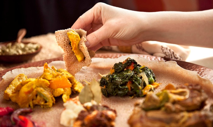 Hana's Kitchen - West Woodland: Vegetarian Meal for Two or Eritrean and Ethiopian Meal for Two or Four at Hana's Kitchen (Up to 50% Off)