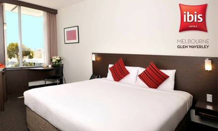 Melbourne: 1 or 2 Nights for Two with Wine and Late CheckOut at Ibis Melbourne Glen Waverley