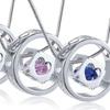 Swarovski Elements Cube-in-Circle Pendant Necklaces