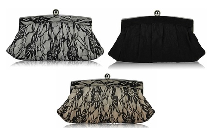 Floral Satin Lace Clutch Bag in Choice of Colour for £11.95 (73% Off)