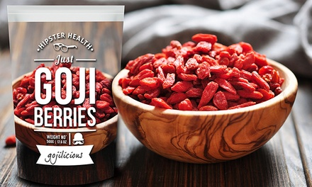 500g, 1kg or 1.5kg Hipster Health Goji Berries from £8.99 (Up to 49% Off)