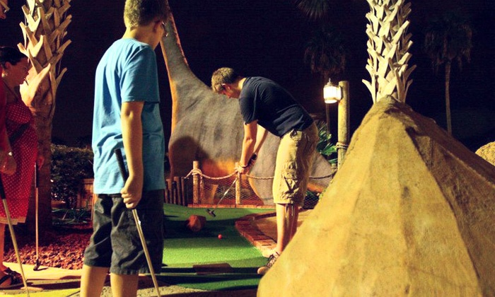 Volcano Island Miniature Golf - Southwest Orange: Mini Golf and Optional Paddleboat Rides for Two or Four at Volcano Island Miniature Golf (Up to 50% Off)