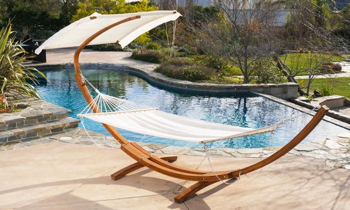 weston outdoor hammock with canopy top  weston outdoor hammock with canopy top     weston hammock with canopy top   groupon goods  rh   groupon