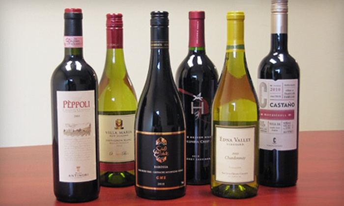 Wine Discount Center - Multiple Locations: Bundle of Six Preselected Wines Scored 88 Points or Higher or $15 for $30 Worth of Wine at Wine Discount Center