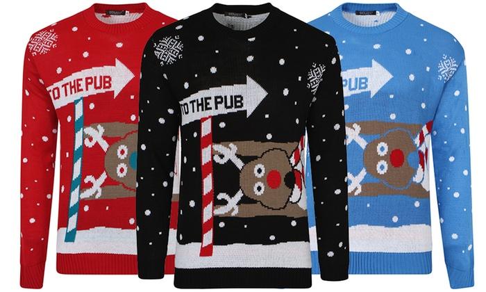 Uniseks Kersttrui.Adults Unisex Christmas Jumper Groupon Goods