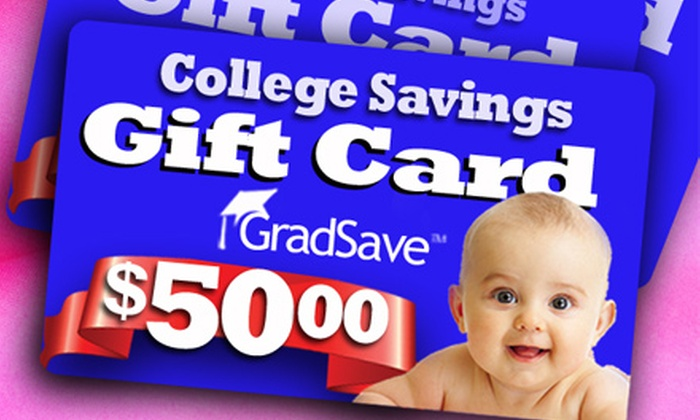 GradSave: $35 for a $50 College Fund Donation at GradSave (30% Off)