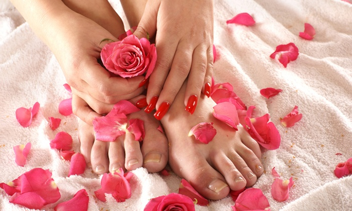 Salon Jade - Lordstown: One or Two Mani-Pedis at Salon Jade (Up to 53% Off)