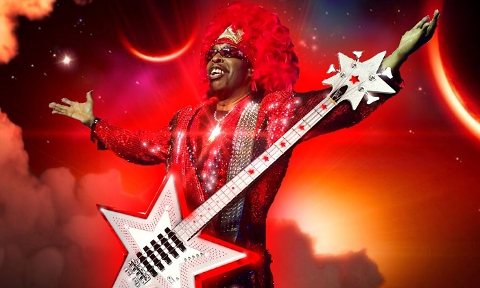 Bootsy Collins - Murat Theatre at Old National Centre: Bootsy Collins at Murat Theatre at Old National Centre on Friday, February 13, at 8 p.m. (Up to 52% Off)