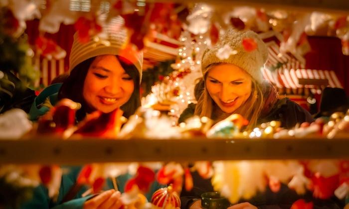 Vancouver Christmas Market - Vancouver : Vancouver Christmas Market Outing for Two or Four Plus Carousel Rides and Optional Cider and Mugs (50% Off)