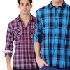 One90One Men's Slim-Fit Button-Downs