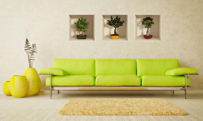 Set adesivi murali effetto 3d groupon goods for Adesivi murali 3d
