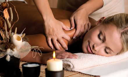 Massage and Facial Package, or Massage and Foot Package at A Center for Alternative Medicine & Spa (40% Off)