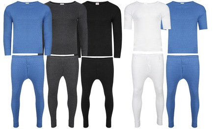 Men's Thermal Top and Long Johns Set in Choice of Colour and Size from £4.99