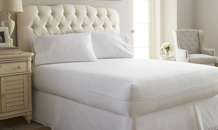 Merit linens zippered bed bug and spill proof mattress for Best rated bed bug mattress cover
