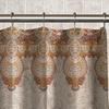 13-Piece Paisley Fabric Shower Curtain Set
