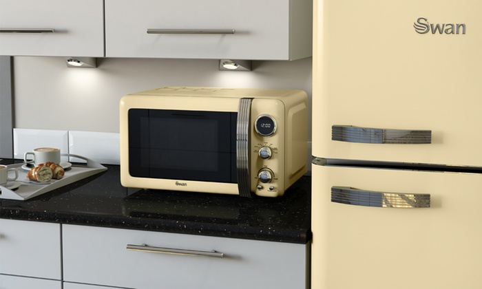 Groupon Goods Global GmbH: Swan Retro Digital Microwave for £69.98 With  Free Delivery ...