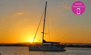 Sailing In Paradise: Two-Hour Sunset Cruise for One ($49) or Two People ($89) with Sailing In Paradise, Main Beach (Up to $138 Value)