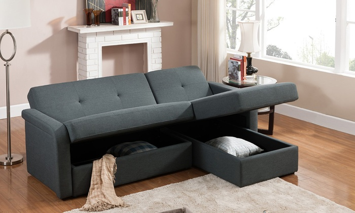 Convertible Sectional Sleeper Sofa With Storage ...