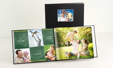 40-Page Custom Debossed Leather Hardcover Photo Book from $9.99–$29.99