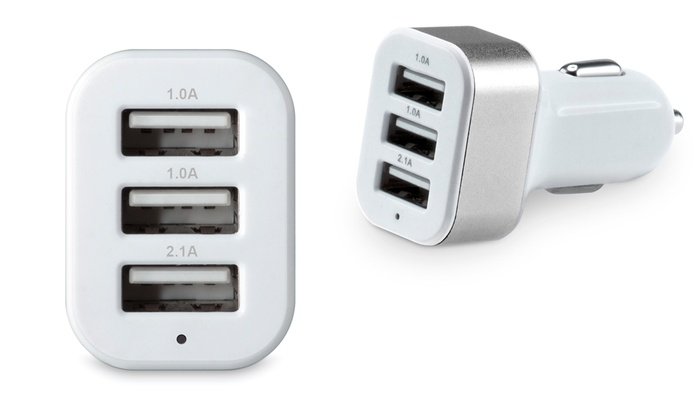 chargeur de voiture 3 ports usb groupon. Black Bedroom Furniture Sets. Home Design Ideas