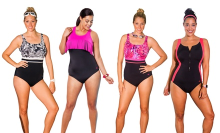 Aquabelle Plus-Size 1-Piece Swimsuits. Multiple Styles Available.