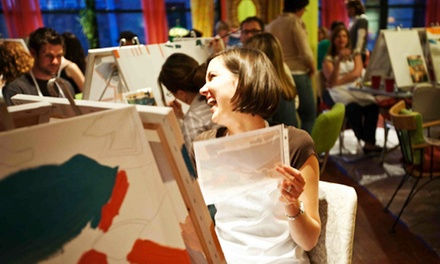 Two-and-a-Half Hour Painting Party for One, Two, or Four at Bottle & Bottega Miami (Up to 50% Off)
