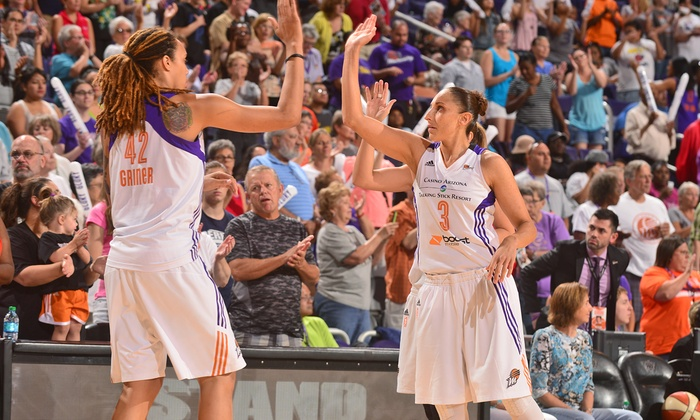 Phoenix Mercury - Talking Stick Resort Arena: Phoenix Mercury WNBA Basketball Game With Autograph Pass Option on July 13, 15, or 17 (Up to 58% Off)