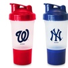 MLB 16oz. Protein Shaker Cup with Storage for Protein Powder