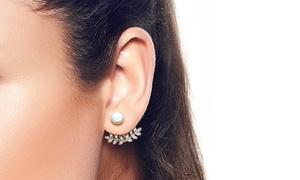 Helena Freshwater Pearl Pave Earring