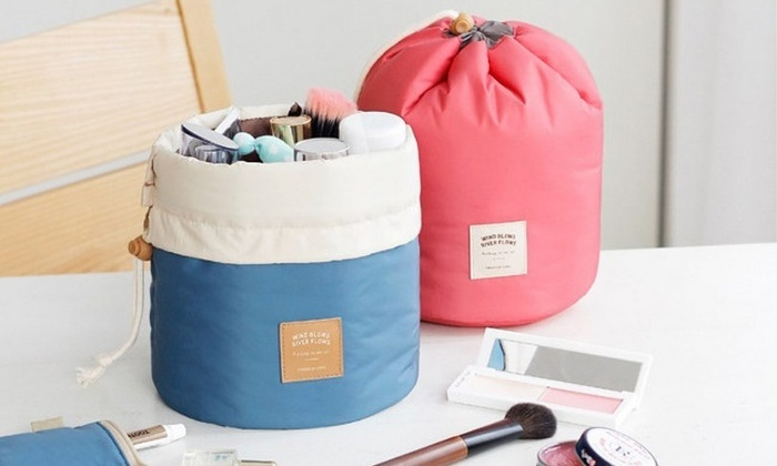Think Global General Trading: One (AED 49), Two (AED 79) or Four (AED 119) Cylindrical Travel Cosmetic Bags