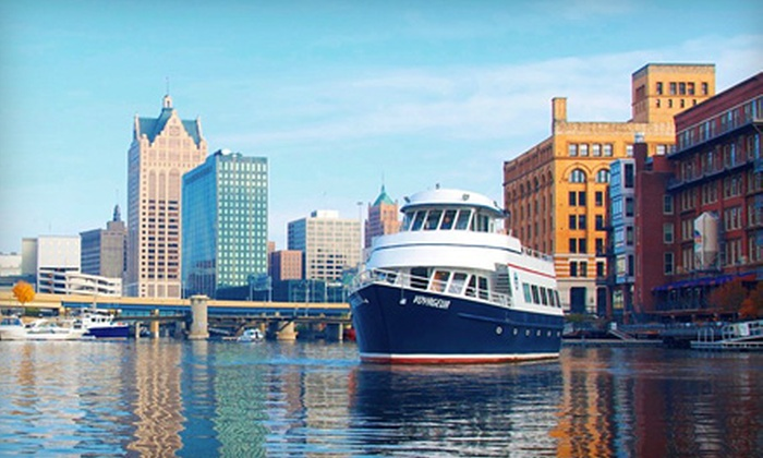 Milwaukee Boat Line - Milwaukee: $9.50 for a Historical and Trivia Cruise or Sunset Happy-Hour Cruise from Milwaukee Boat Line ($19 Value)