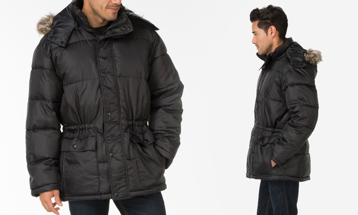 """Perry Ellis Men's Wellon Filled Parkas: Perry Ellis Men's 33"""" 100% Polyester Wellon Filled Parkas. Multiple Options Available. Free Returns."""