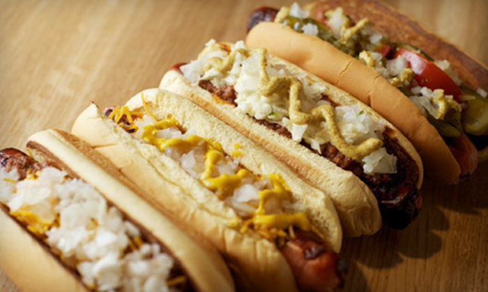 JJ's Red Hots - College Downs: $10 for $20 Worth of Hot Dogs, Sausages, and Drinks at JJ's Red Hots