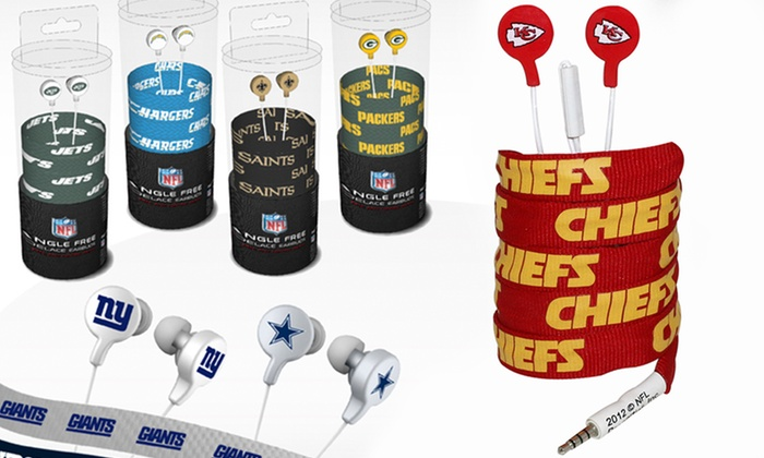 NFL Shoelace Earbuds: $8.99 for NFL Shoelace Earbuds ($19.95 List Price). Multiple Teams Available. Free Returns.