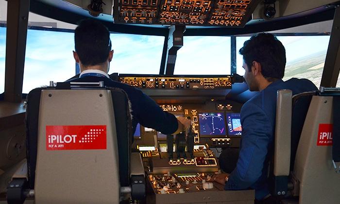 30, 60 o. 90 Min. Erlebnisflug im Super Jumbo Jet-Flugsimulator in Düsseldorf bei iPilot (bis zu 54% sparen*)
