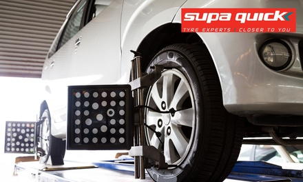 3D Wheel Alignment from R89 with Optional Rotation, Balance and Safety Check at Supa Quick Centurion Lifestyle Centre