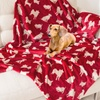 Ultra Plush Dog Silhouette Fleece Throw Blanket