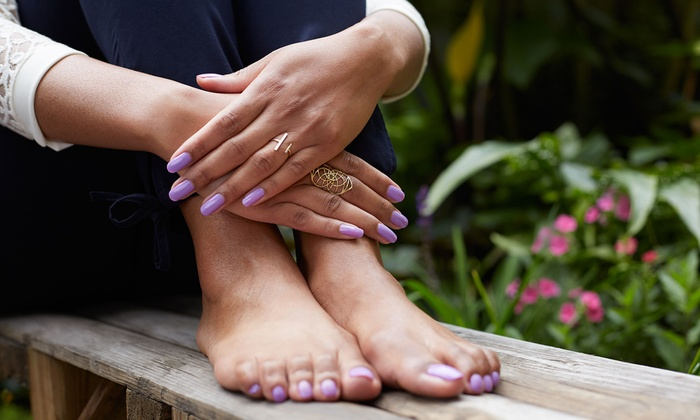 Pumpkin Spice Latte Pedis, Cafe Mocha Manis, or Gel Manis with Paraffin at Nails by Ondrej (Up to 57% Off)